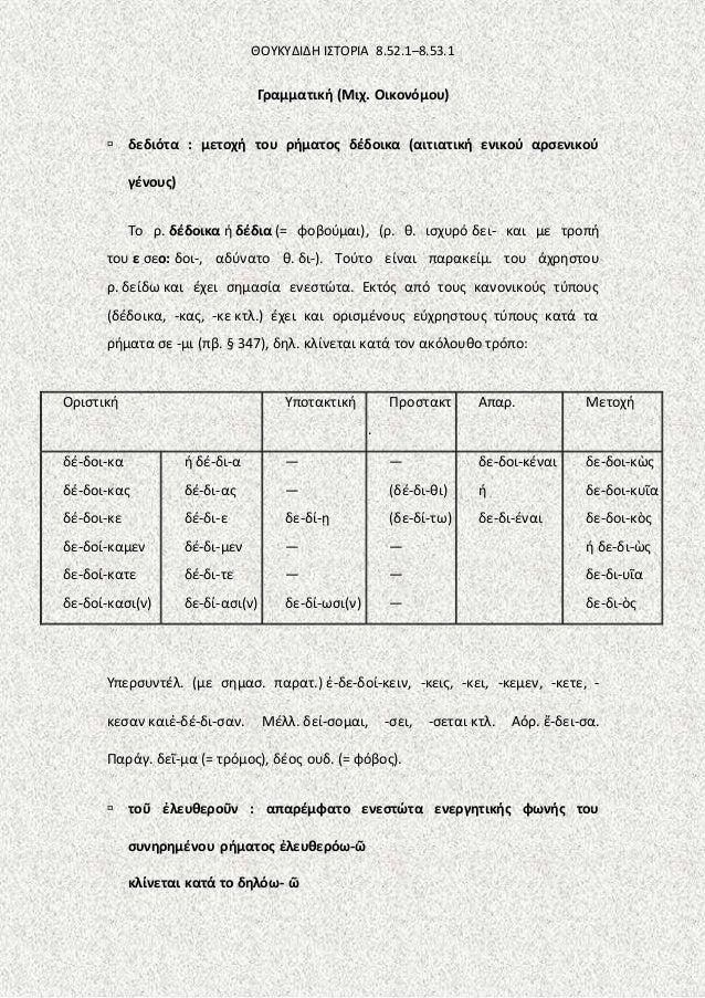άγνωστο κείμενο, Θουκυδίδη Ιστορία, .8,52.1 53.1 Slide 2