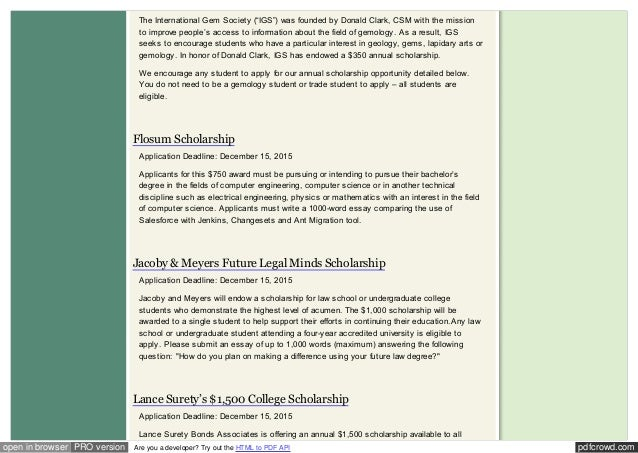 scholarship essay contests for college students