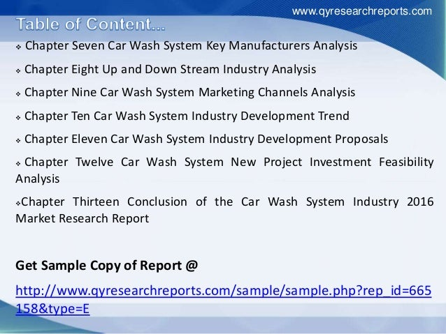 competitive analysis car wash industry The evolution of the car washing industry presented by macneil car wash systems today's automatic car wash systems are incredibly convenient it's easy to lose.