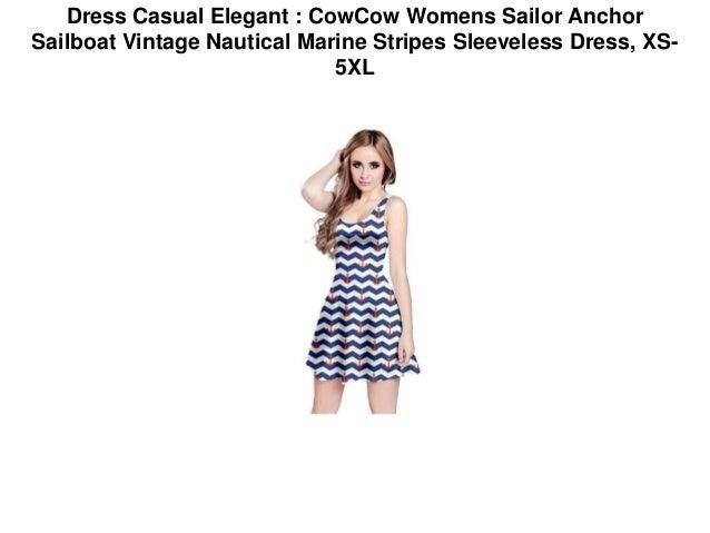 Dress Casual Elegant Cowcow Womens Sailor Anchor Sailboat Vintage N