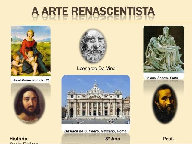 A ARTE RENASCENTISTA Leonardo Da Vinci História 8º Ano Prof.