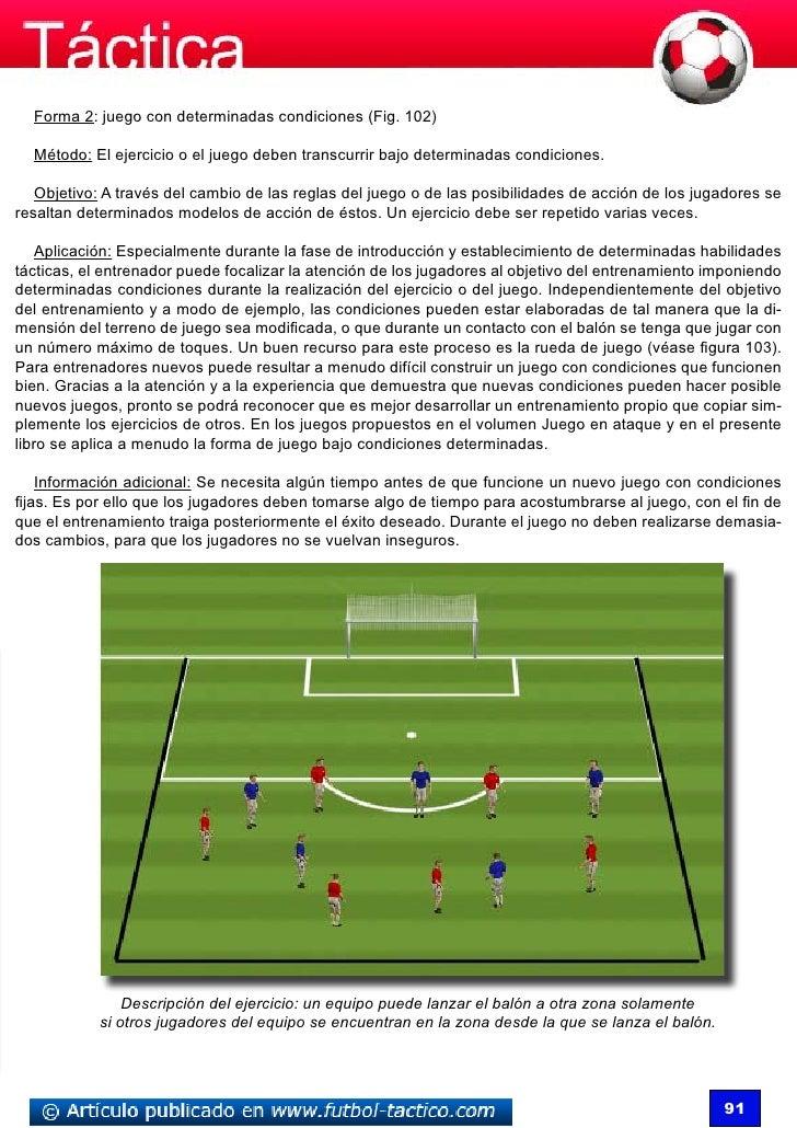 Forma 2: juego con determinadas condiciones (Fig. 102)  Método: El ejercicio o el juego deben transcurrir bajo determinada...