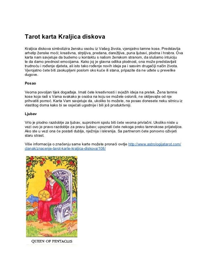Tarot Karta Kraljica Diskova