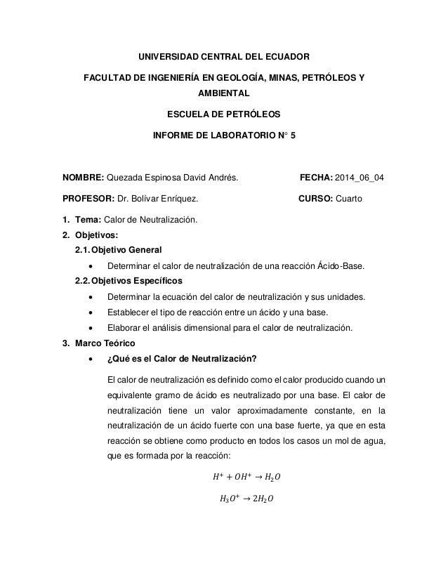 UNIVERSIDAD CENTRAL DEL ECUADOR FACULTAD DE INGENIERÍA EN GEOLOGÍA, MINAS, PETRÓLEOS Y AMBIENTAL ESCUELA DE PETRÓLEOS INFO...