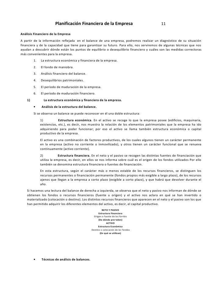 Planificación Financiera de la Empresa                                   11  Análisis Financiero de la Empresa A partir de...