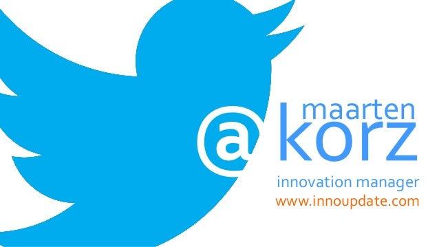 innovation manager www.innoupdate.com maarten