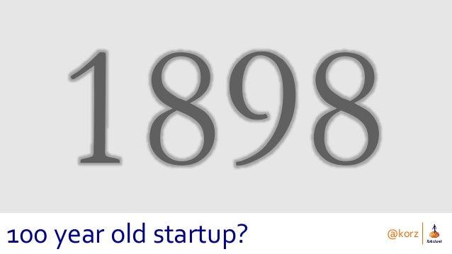 @korz 100 year old startup?