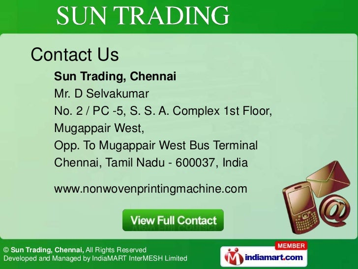 Sun Trading - Manufacturers and Suppliers of Non woven ...