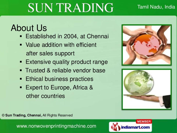 SUN TRADING in Chennai, Tamil Nadu, India - Company Profile