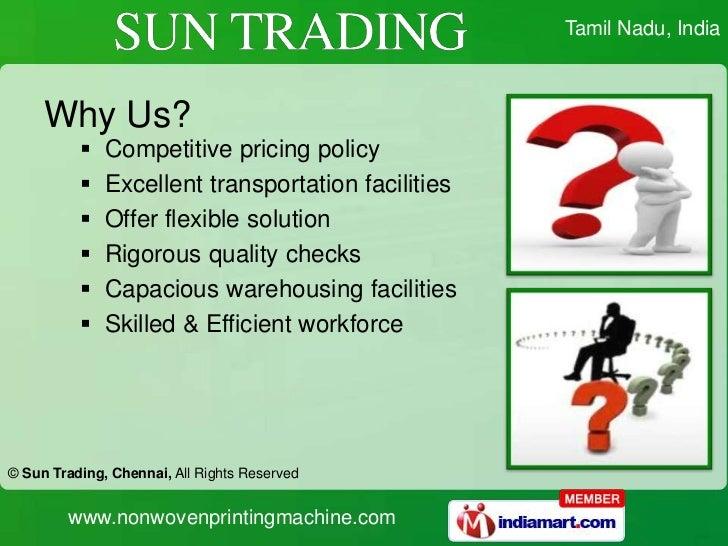 Non Woven Bag Printing Machines by Sun Trading, Chennai ...