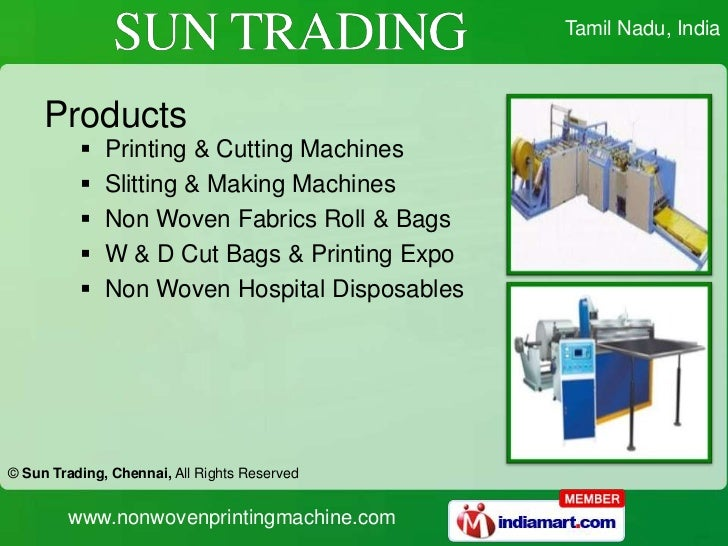 Exporter of Other Textile Machinery from Chennai by SUN ...
