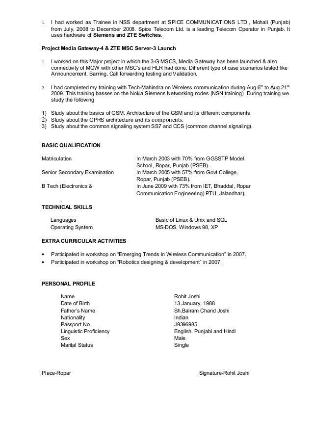 Resume-Rohit Joshi Slide 3
