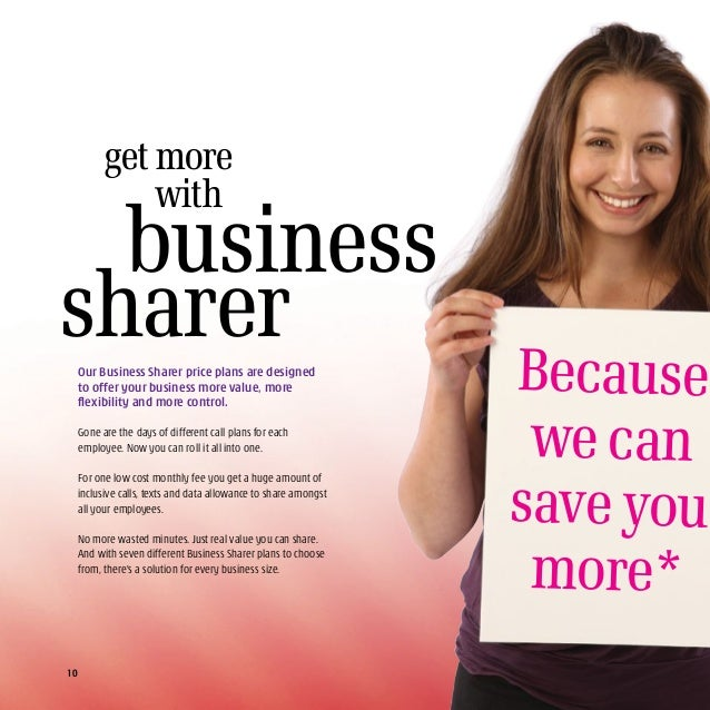 Call 1800 944 833 Click three.ie/business Katie Isworth Consumer PR Manager Look what Business Sharer plans include • Cal...