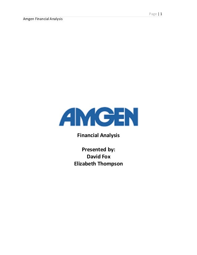 AMGEN Financial Analysis