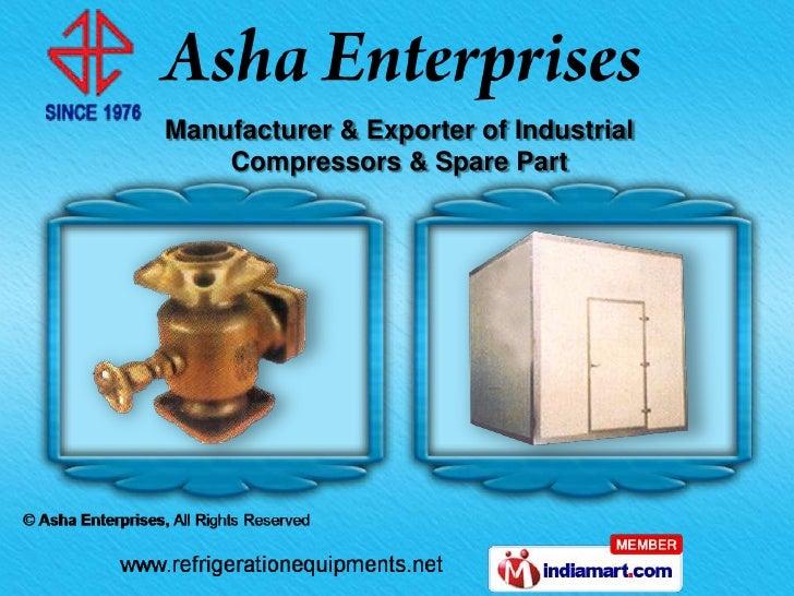 Manufacturer & Exporter of Industrial    Compressors & Spare Part