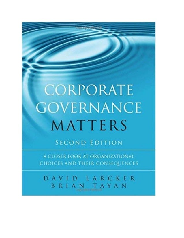 Corporate Governance Matters, 2nd Edition (August 2015)