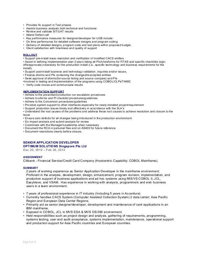 cobol db2 philippine resume