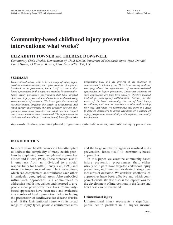 HEALTH PROMOTION INTERNATIONAL                                                                     Vol. 17, No. 3© Oxford ...