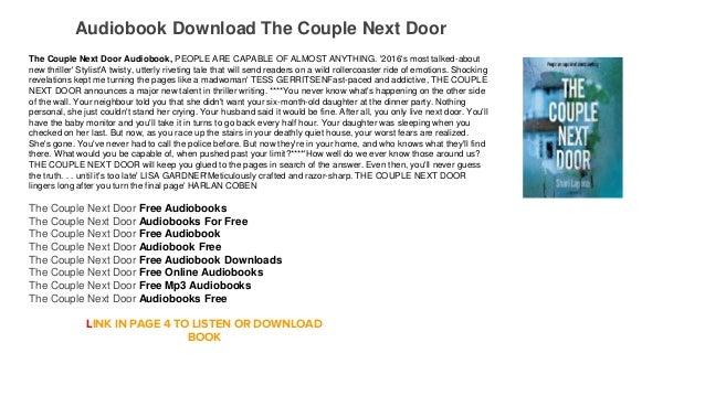 Audiobook Free Trial Playstore The Couple Next Door