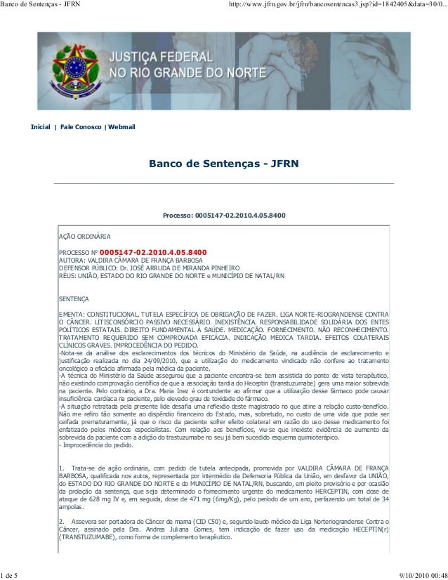 Banco de Sentenças - JFRN http://www.jfrn.gov.br/jfrn/bancosentencas3.jsp?id=1842405&data=30/0...  Inicial | Fale Conosco ...