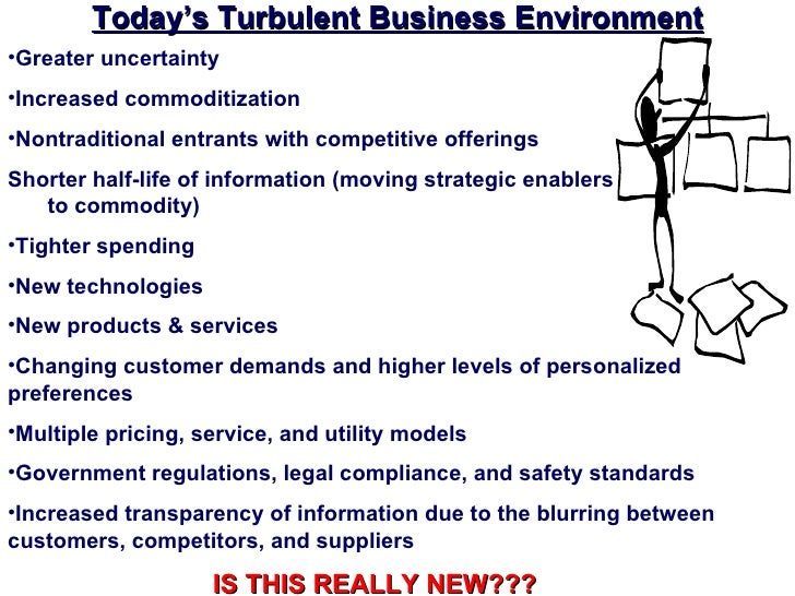 Today's Turbulent Business Environment•Greater uncertainty•Increased commoditization•Nontraditional entrants with competit...