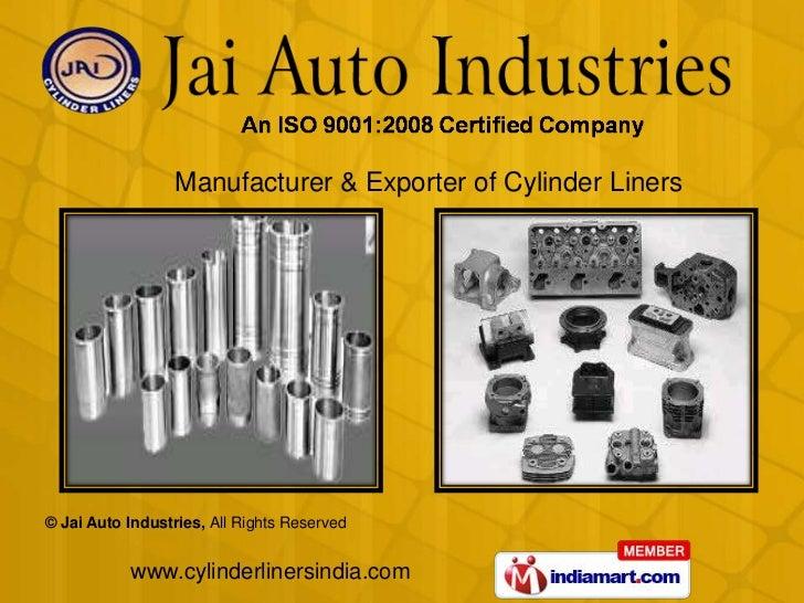 Manufacturer & Exporter of Cylinder Liners<br />