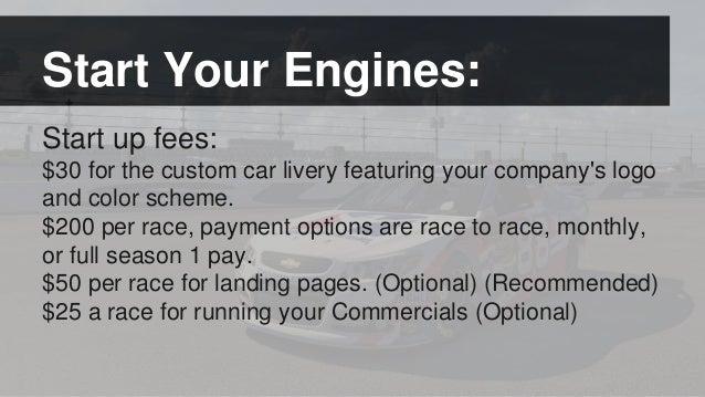 eSports Online Racing Sponsorship Presentation – Race Car Sponsorship Contract