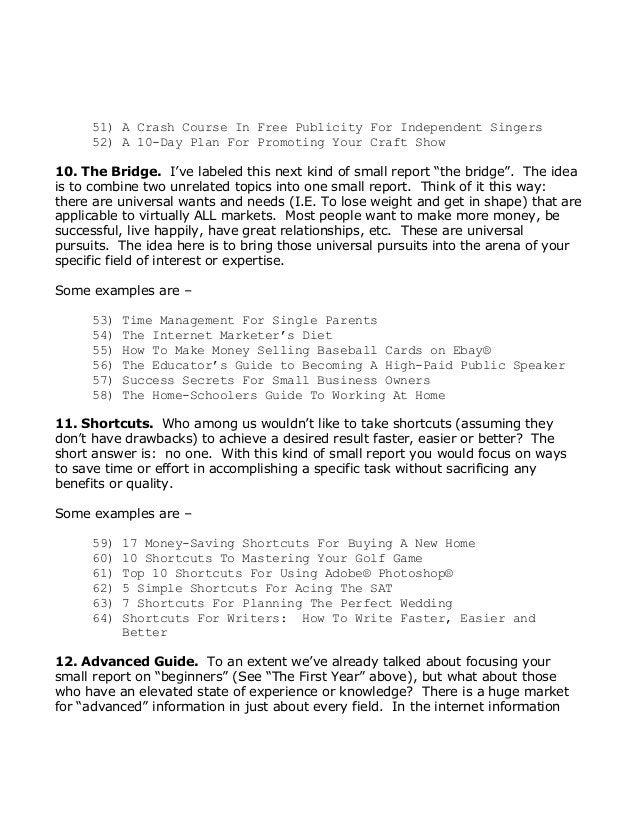 51)ACrashCourseInFreePublicityForIndependentSingers 52)A10DayPlanForPromotingYourCraftShow 10.TheB...