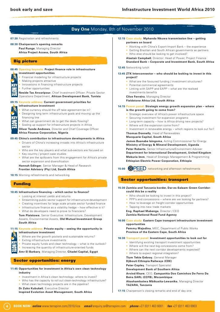 Infrastructure Investment World Africa 2010 brochure