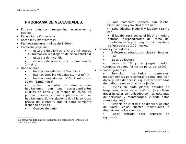 27432262 programa de necesidades for Programa para disenar cuartos