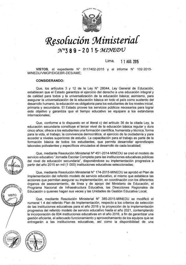 """glilCA un;   e"""" """"h.  o no        Qïesofución fll/ linisteríaí w389 -2o 1 savia/ saw  Lima- 1 1 A60. 2015  VISTOS,  el exped..."""