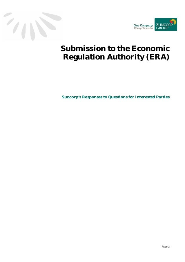 Suncorp Public Submission Inquiry into Microeconomic