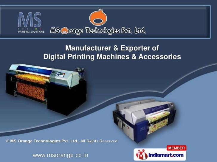 Manufacturer & Exporter ofDigital Printing Machines & Accessories