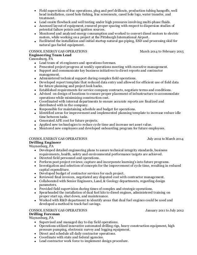 Old Fashioned Consol Energy Resume Ensign - Administrative Officer ...