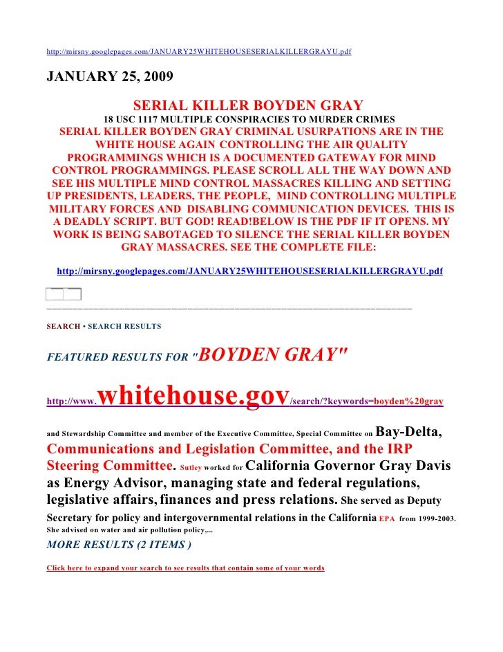 http://mirsny.googlepages.com/JANUARY25WHITEHOUSESERIALKILLERGRAYU.pdf   JANUARY 25, 2009                          SERIAL ...