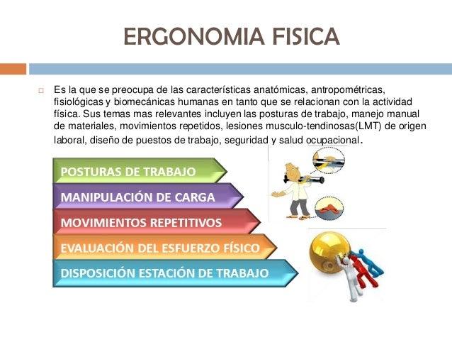 Ergonomia fisica for Para que sirve la ergonomia