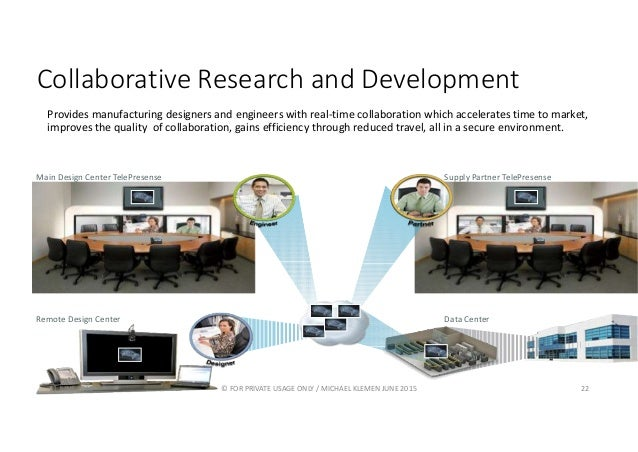 Collaborative Research and Development Provides manufacturing designers and engineers with real-time collaboration which a...