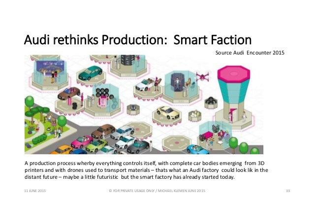Audi rethinks Production: Smart Faction 11 JUNE 2015 © FOR PRIVATE USAGE ONLY / MICHAEL KLEMEN JUNE 2015 33 A production p...