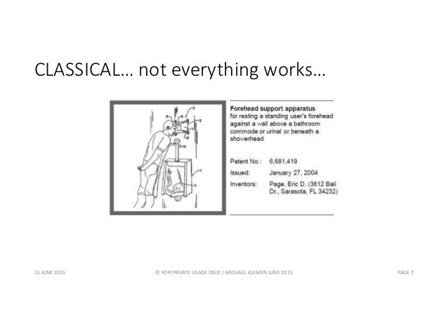 CLASSICAL… not everything works… 11 JUNE 2015 © FOR PRIVATE USAGE ONLY / MICHAEL KLEMEN JUNE 2015 PAGE 7