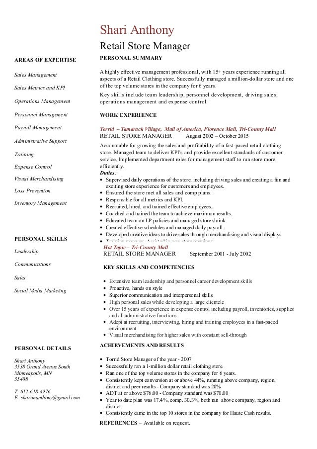 Resume Examples Operations Manager Resume Template References Academic  Qualification Personal Detail Skills Key Competencies Professional  Areas Of Expertise Resume Examples