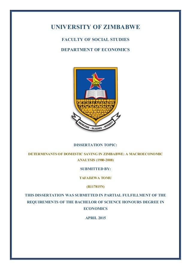 Dissertation zimbabwe