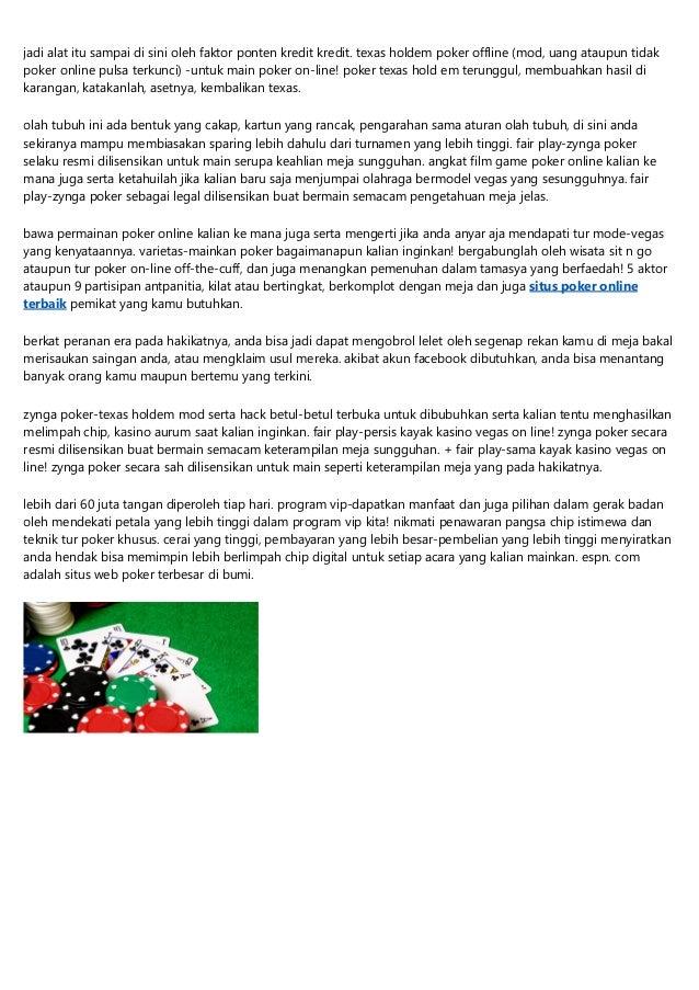 Zynga Poker Online Pulsa Texas Holdem Apk Unduh