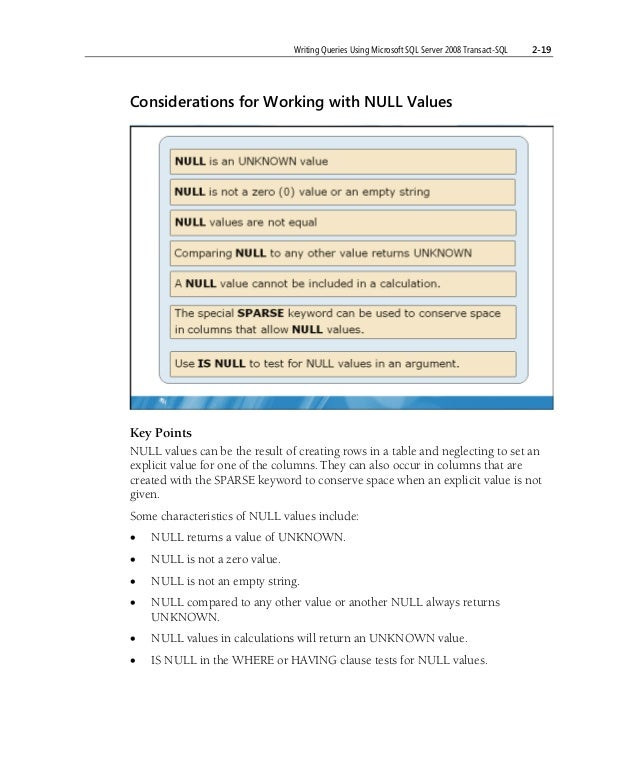 sql server 2008 queries examples pdf