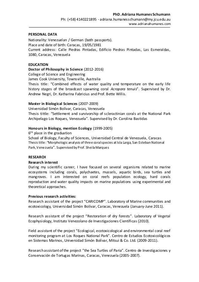 honours thesis jcu
