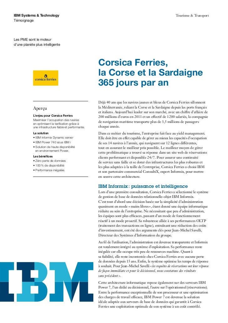 IBM Systems & Technology                                                                                         Tourisme ...