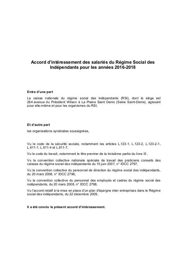 2796 2797 2798 Rsi Interessement Rsi 2016 2018 Du 7 Juin 2016