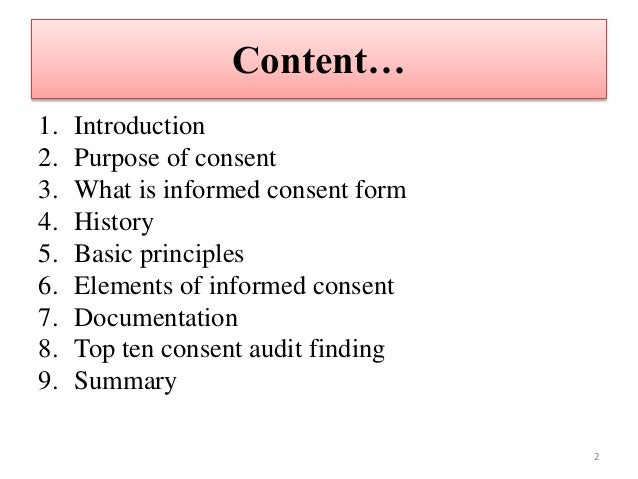Informed Consent Form