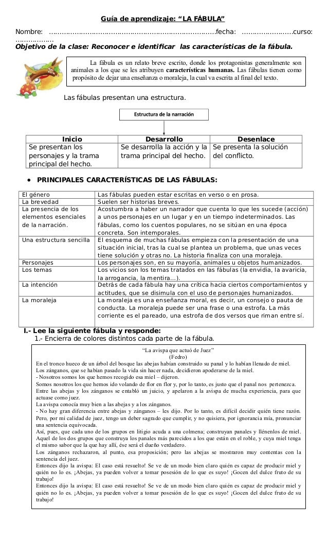 279878021 Guia De Aprendizaje La Fabula