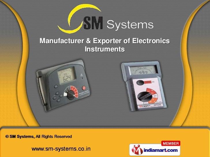 Manufacturer & Exporter of Electronics            Instruments