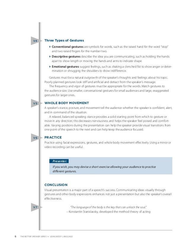 Using Body Language (PDF)